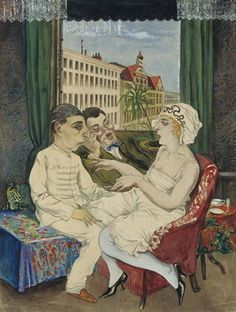 Rudolf Schlichter (or Rudolph Schlichter) (1890 - 1955) was a German artist and one of the most important representatives of the Neue Sachlichkeit (New Objectivity) movement. When Adolf Hitler took power, bringing to an end the Weimar period, his activities were greatly curtailed. His works were seized as degenerate art, and in 1939 the Nazi authorities banned him from exhibiting. His studio was destroyed by Allied bombs in 1942.