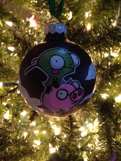 Invader Zim (Gir) Ornament front (1 of 2)  By K.D. Aiardo