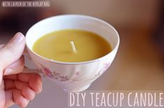DIY teacup candles >> just LOVE this easy #tutorial from Simple Design.