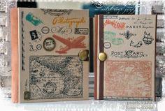 """Projeto encadernação """"Caderno de Viagens"""""""