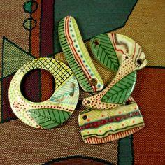 Ciondolo in ceramica argilla gioielli componente uno di un