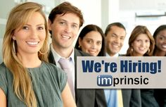 We're always on the lookout for exceptional talent!  http://imprinsic.com/employment-opportunities/