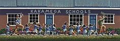 Kakamega Schools, by Eric Dowdle Dowdle Folk Art Art & Puzzles Kenya Kakamega Commissioned by In Our Own Quiet Way