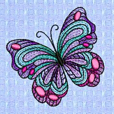 butterfly mylar spring summer embroidery designs