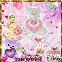 Nounours coeur - PicMix 16 October, Create Animation, Love Rose, Photomontage, Presidents, Photo Editing, Editing Photos, Photo Manipulation, Image Editing