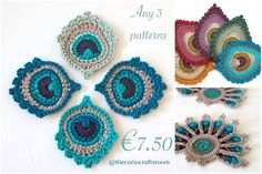 Select any 3 crochet patterns from my shop for €7.50.  Choose 3 from any €3.00 to €3.50 patterns and save up to €2.20.  In your order, please