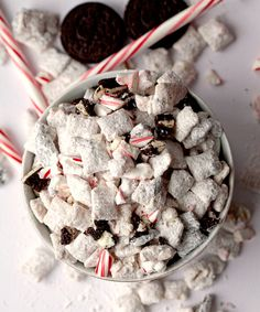 Arguably the easiest dessert treat you could ever make, Puppy Chow isn't just a one-note munchie. This well-known snack is getting a little holiday remix, thanks to the kind folks at Deliciously Yum.