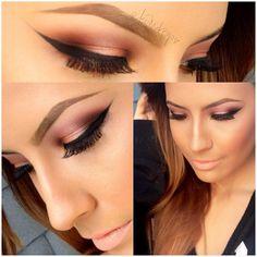 .@desimakeup   A few more shots of today's makeup:) details on previous post. #desimakeup #i...
