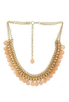 Teardrop Bead Fringe Necklace | FOREVER21 - 1000087379