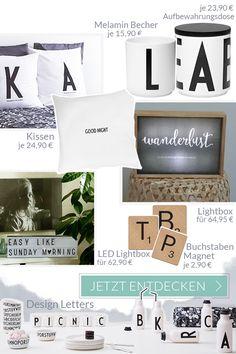 interior trend: typografie und buchstaben - online shoppen bei, Innenarchitektur ideen