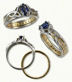 Vanessa Reverse Cradle Engagement Rings - custom celtic engagement rings with gemstones, diamonds @ best prices!