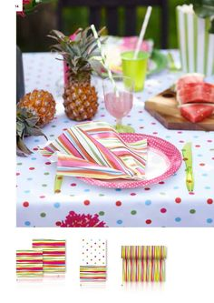 Dunin Summer ecstasy Felicia-paperiservetit via http://catalogues.duni.com/International/2016/Consumer2016/