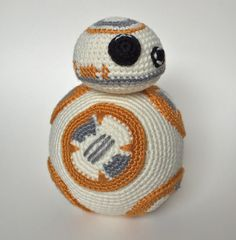 23 Ideas Crochet Amigurumi Free Patterns Star Wars The Force Crochet Afghans, Crochet Amigurumi Free Patterns, Crochet Motifs, Crochet Dolls, Bb8 Star Wars, Star Wars Crochet, Crochet Stars, Crochet Crafts, Crochet Projects