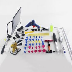 PDR Dent Lifter Kit Glue Puller Paintless Dent Repair Tool Bag Hail Removal 68pc