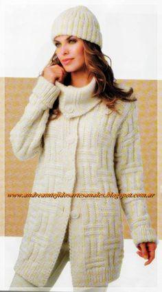 Tejidos realizados al crochet y/o a dos agujas. Tapas, Turtle Neck, Sweaters, Dresses, Fashion, Templates, Vestidos, Moda, Fashion Styles