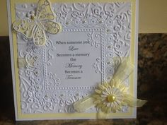 sympathy card using tattered lace die