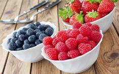 Download wallpapers raspberries, strawberries, blueberries, berries, healthy food