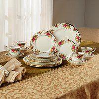 Royal Albert® Old Country Rose 20-Piece Bone China Dinnerware Set ShopNBC.com