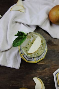 Asian Pear and Mint Bourbon Sparkler | My Diary of Us