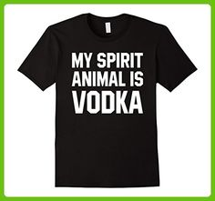 Mens My Spirit Animal Is Vodka Funny Drinking T Shirt Gifts Men  Small Black