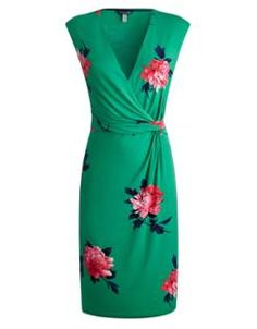 Bring a splash of colour to the grey British skies with Joules' MARILYN Womens Jersey Wrap Dress