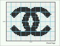 Knit Chanel Logo-The Counterfeit Crochet Project Cross Stitch Quotes, Cross Stitch Art, Cross Stitch Designs, Cross Stitch Patterns, Knitting Charts, Knitting Patterns, Crochet Patterns, Chanel Logo, Fendi