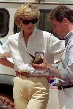 January 15, 1997: Diana, Princess of Wales in Luanda, Angola.