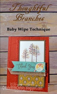 Thoughtful Branches Thank You by StampinChristy - Cards and Paper Crafts at Splitcoaststampers