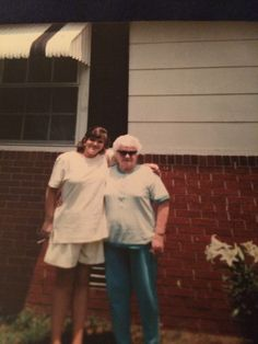 My sweet Mamaw Kelly in her shades and me.