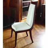 Found it at Wayfair - Elegant Deco Leather Parson Chair 1500