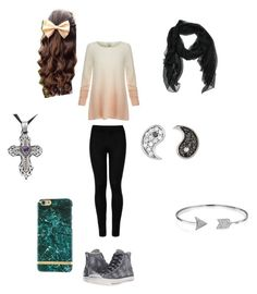"""""""Delilah -first match-"""" by megan-the-slytherin ❤ liked on Polyvore featuring Wolford, Converse, Joie, Sydney Evan and Bling Jewelry"""