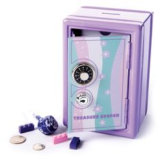 My Treasure Keeper Safe & Bank. Ava toys My Treasure Keeper Safe & Bank - Best for Ages 5 to 10 Christmas Toys For Girls, Cool Toys For Girls, Little Girl Toys, Mini Things, Cool Things To Buy, Cool Stuff To Buy, Baby Toys, Kids Toys, Children's Toys