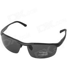 40db91748a OUMILY Men s Aluminum Magnesium UV 400 Protection Polarized Lens Sunglasses  - Black