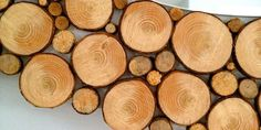 Rahmen aus Holzscheiben für Designer Spiegel - fresHouse