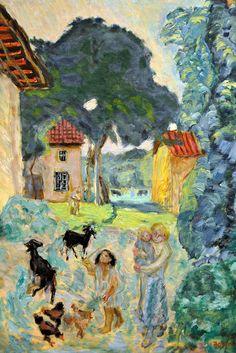 Pierre Bonnard - Village Scene 1912 at New York Metropolitan Art Museum by mbell1975, via Flickr