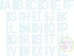 Stacked Sans Floss Applique Monogram Font | The Itch 2 Stitch