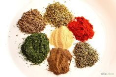 Basic spices by what type of food you're cooking