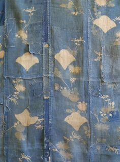 boro cloth, hand stitched from hand decorated 18th century Japanese kimono pieces