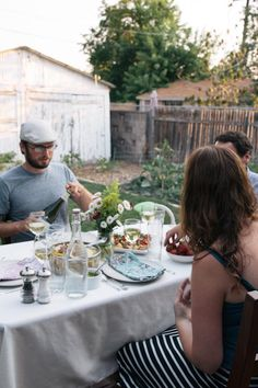 Summer Dinner Party plus garlic scape pesto recipe