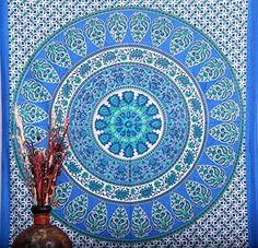 Hippie Wall Hanging Tapestries , Indian Mandala Tapestry Throw Bedspread , Dorm Tapestry , Decorative Wall Hanging , Picnic Beach Sheet Labhanshi  http://www.amazon.com/dp/B00OC5WZ2K/ref=cm_sw_r_pi_dp_fp1gvb09VQQHT