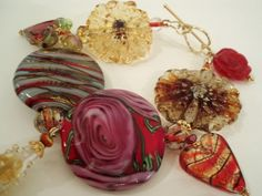 Raging Red Glass Lampwork Bead Bracelet by Beadoire on Etsy, $185.00