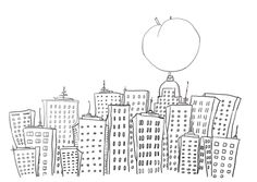 James And The Giant Peach In New York Coloring Page From Category Select 20946 Printable Crafts Of Cartoons Nature