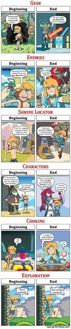 A new Dorkly comic collab about Zelda Breath of the Wild - Beginning VS. DORKLY: Breath of the Wild - Beginning VS. The Legend Of Zelda, Legend Of Zelda Memes, Legend Of Zelda Breath, Video Game Memes, Video Games Funny, Funny Games, Breath Of The Wild, Geeks, Video Humour