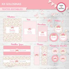 Pin etiquetas para bautizo imprimir gratis hawaii dermatology on kit imprimible candy bar Foto Baby, Party In A Box, Ideas Para Fiestas, Candy Table, Fiesta Party, Party Printables, Holidays And Events, Girl Birthday, Shabby Chic
