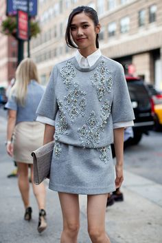 topshop: We're saying gems away this fall with an embellished co-ord.