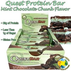 Quest Protein Bar Mint Chocolate Chunk Flavor