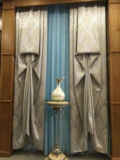 Valance Window Treatments, Custom Window Treatments, Window Coverings, Curtain Styles, Curtain Designs, Decorating On A Budget, Interior Decorating, Curtains With Blinds, Valances