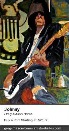 Johnny by Greg Mason Burns www.gregmasonburns.com #oiloncanvas #painting #portrait #art #artist #expressionist #expressionism #johnnyramone #ramones #theramones