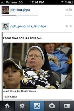 God is a Pens fan via Instagram