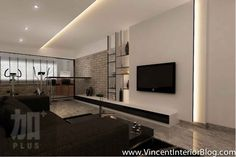 Living Room Idea with Feature Wall Beautiful Singapore Interior Design Ideas Beautiful Living Rooms Tv Feature Wall, Feature Wall Living Room, Feature Wall Design, Tv Wall Design, Bedroom Wall Designs, Living Room Designs, Beautiful Living Rooms, Small Living Rooms, Zen House Design